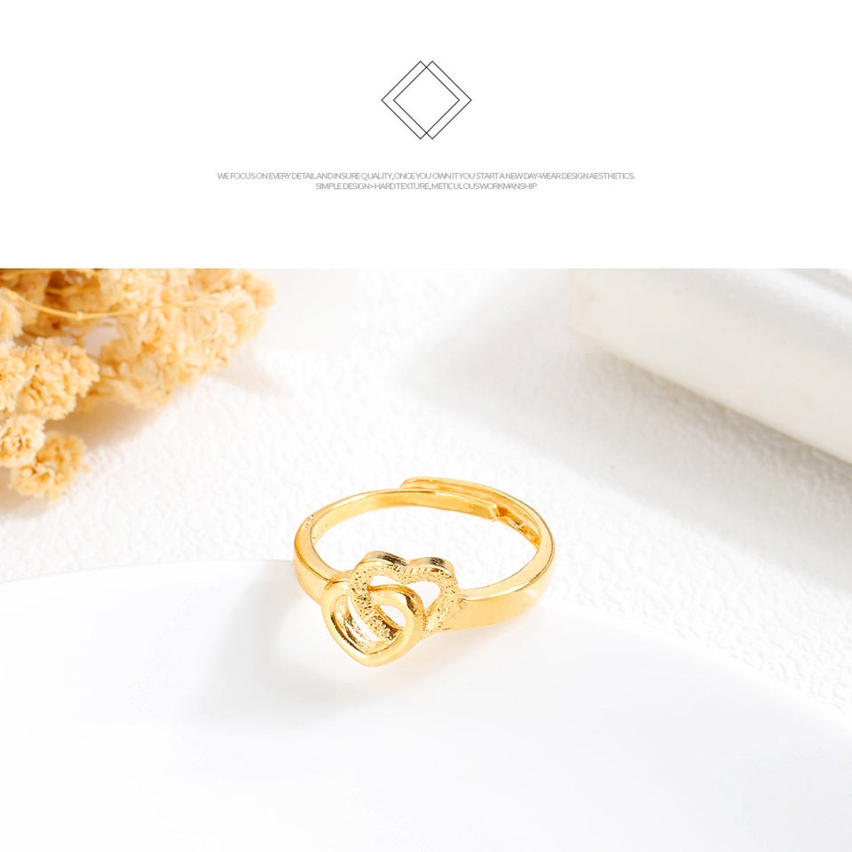 TWIN HEARTS INFINITY RING (ADJUSTABLE BAND) BUY 1 TAKE 1