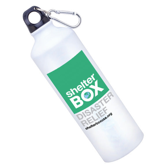 24 oz of cold water will keep you hydrated throughout the day with its aluminum body. Thanks to its versatility you can spread awareness while on a hike or at the office.
