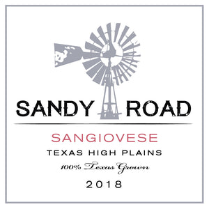 Sandy Road Sangiovese 2018 Texas High Plains