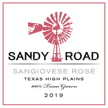 Load image into Gallery viewer, Sandy Road Sangiovese Rosé 2019 Texas High Plains