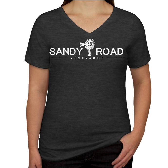 Sandy Road Vineyards Women's V-Neck Tri-Blend T-Shirt