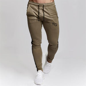 Gold fitted joggers
