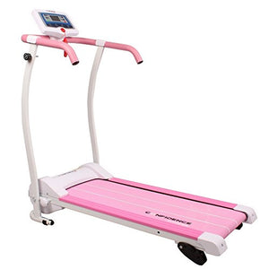 Trac Pro 735W Motorized Electric Folding Treadmill Running Machine in Pink