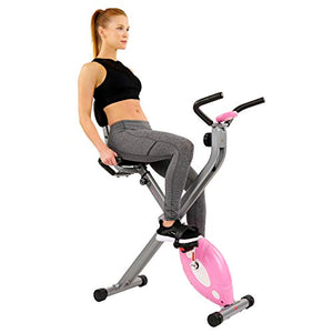 Magnetic Folding Recumbent Bike Exercise Bike, 220lb Capacity