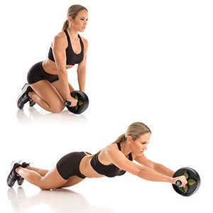 Abdominal Exercise Wheel for Core Strength Training | Includes Knee Pad