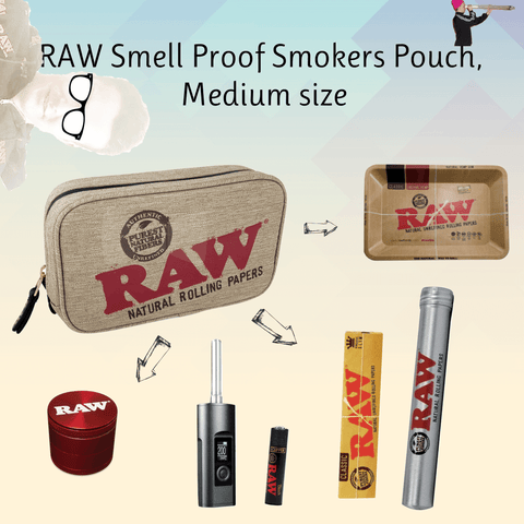 RAW smell proof pouch medium