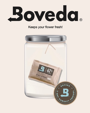 Buds stay fresh with Boveda. Three easy steps to increase strength of your flower.