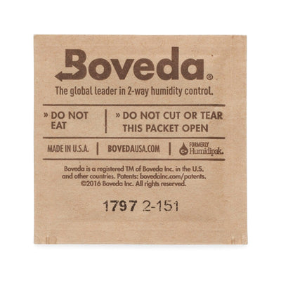 Boveda 62% humidity packs 1g 20 pack in resealable bag - ISmokeFresh online smoke shop