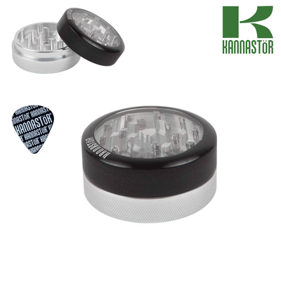 Kannastor grinder clear top with solid body, 2 pcs
