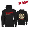 RAW Hoodie – Black-I Smoke Fresh, online smoke shop.