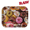 RAW Metal Rolling Tray, Donut, Size Large-I Smoke Fresh, online smoke shop.