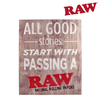 "RAW ""Good Stories"" Wooden Sign-I Smoke Fresh, online smoke shop."