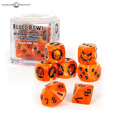 Blood Bowl Necromantic Horror Team Dice Set