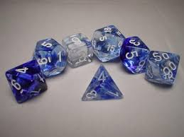 Chessex 7-Die set Nebula Blue/White