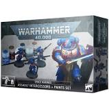 Warhammer 40K - Space Marines - Assault Intercessors + Paints Set