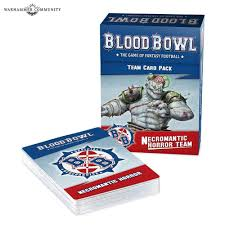 Blood Bowl Necromantic Horror Team Card Pack