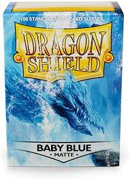 Dragon Shields 100 Matte Baby Blue