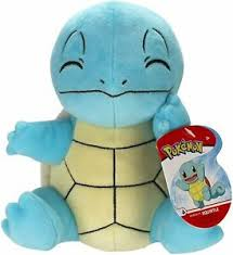 PKM - 8 Inch Plush - Sitting Squirtle