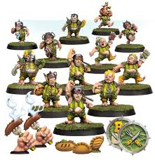 BLOOD BOWL : The Greenfield Grasshuggers - Halfling Blood Bowl Team
