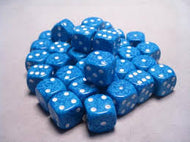 Chessex 16mm D6 dice Water Speckled