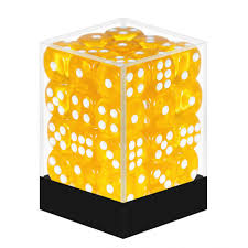 BlackFire - 36 Dice Yellow transparant