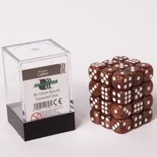BlackFire - 36 Dice Dark Brown