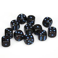 Chessex 16mm D6 dice Blue star Speckled