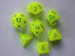 Chessex 7-Die set Vortex Electric Yellow/green