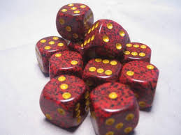 Chessex 16mm D6 dice Mercury Speckled