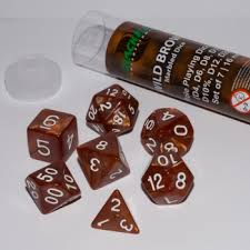 Blackfie D&D mini dice set yellow/purple