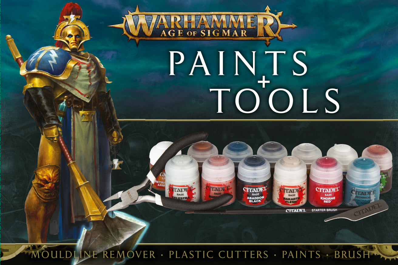 Warhammer: Age  Of Sigmar - Paints + Tools set