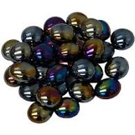 Chessex Gaming Glass Stones in Tube - Iridized Opal Black (40)