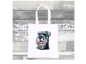 Tote Bag with a picture of a Schnauzer
