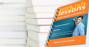 List of self-study Turkish lessons for beginners (A2)