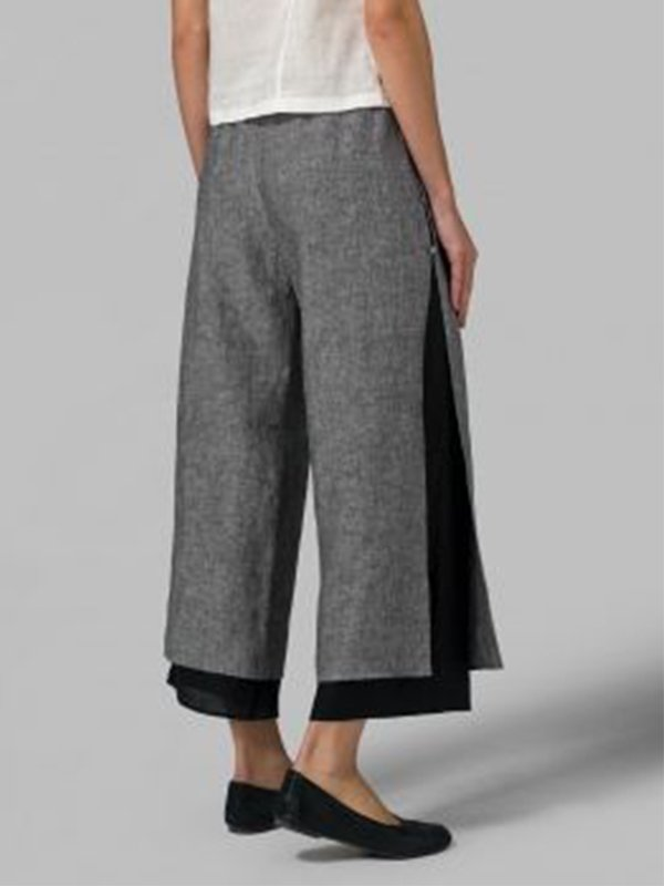Women Cotton Plus Size Casual Linen & Cotton Bottoms