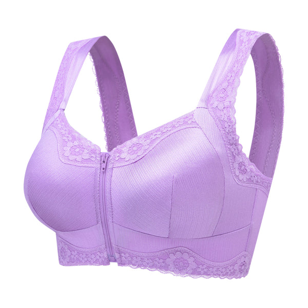 Cotton Full Cup Lace Breathable Comfortable Sexy Wireless Bra