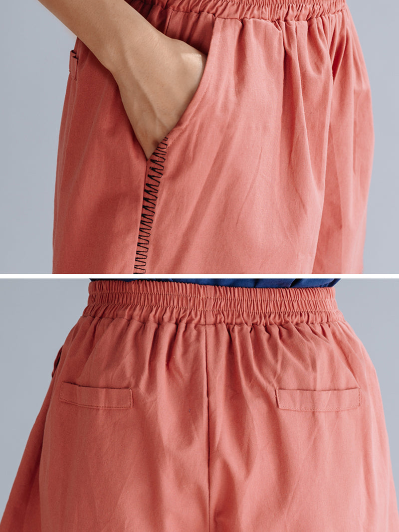 Plus Size Women Plain Casual Shorts