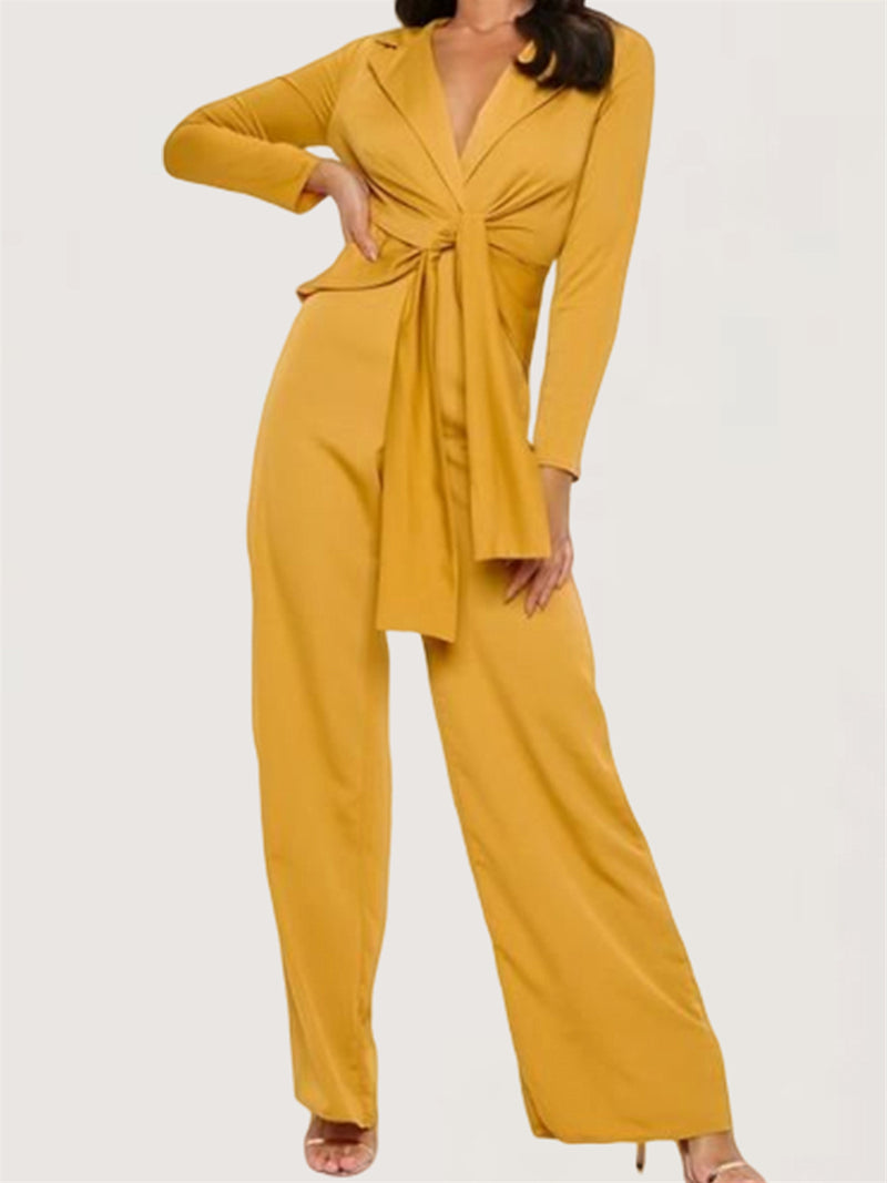 Casual Basic Sexy Party Evening Long Sleeve Jumpsuit