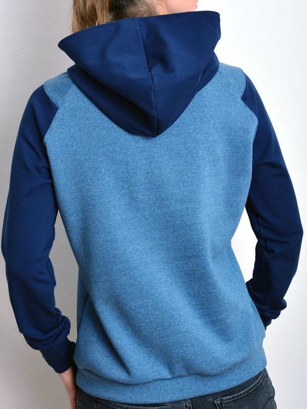 Hoodie Long Sleeve Shift Solid Sweatshirt
