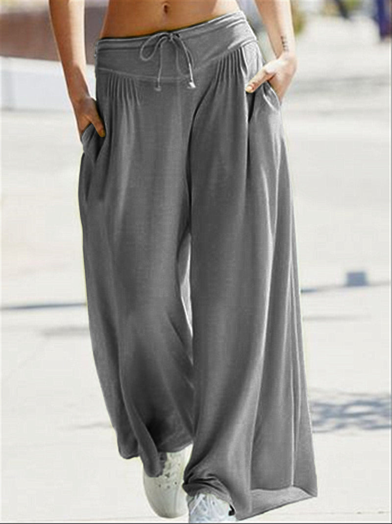 Autumn Casual Daily Basic Large Size Cotton Long Pants