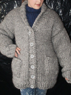 Plus size Pockets Long Sleeve Knitted Outerwear