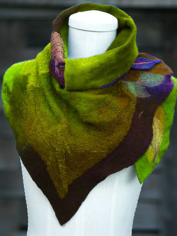 Multicolor Leaf Printed Women Scarves