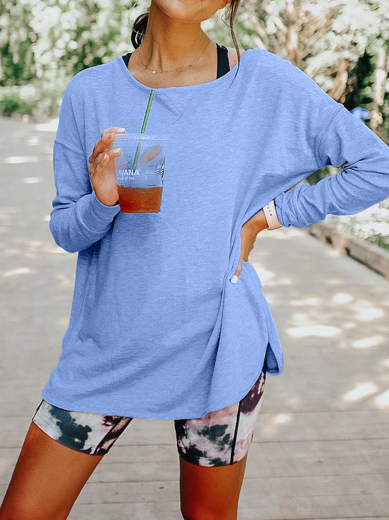 Plus size Long Sleeve Crew Neck Shirts & Tops