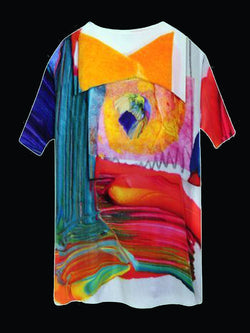 Women White Short Sleeve Abstract Shirts & Tops