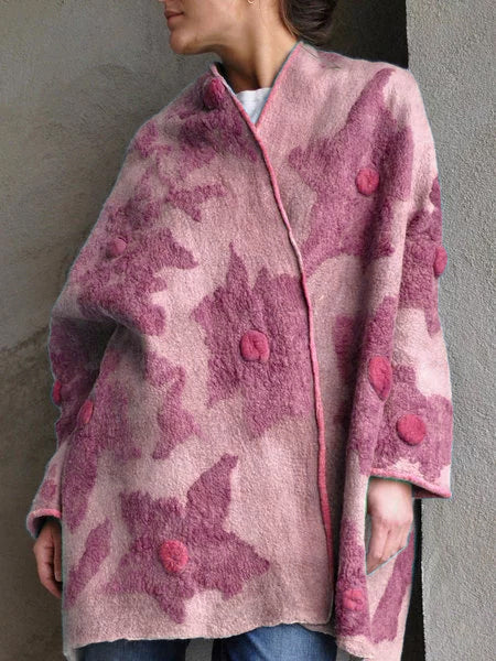 Plus size Floral Printed Vintage Outerwear