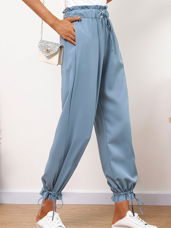 Plus Size Women Plain Casual Bloom Pants