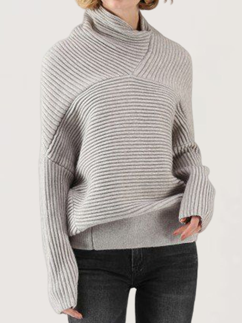 Autumn Winter Casual Plus Size Knitted Sweatshirt