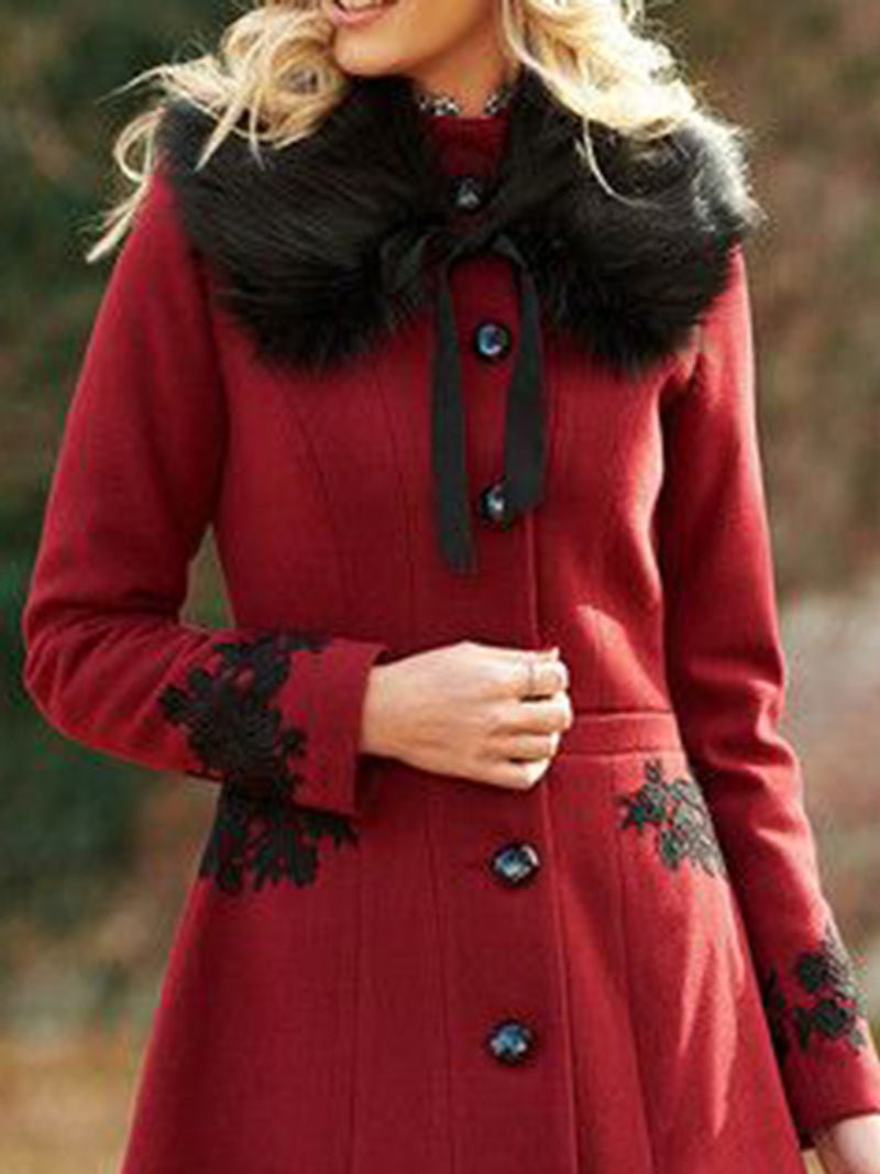 Stylish Long Sleeve Sweet Outerwear