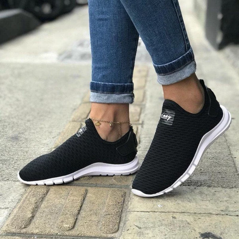 Flat Heel Daily Flyknit Fabric Women's Shoes