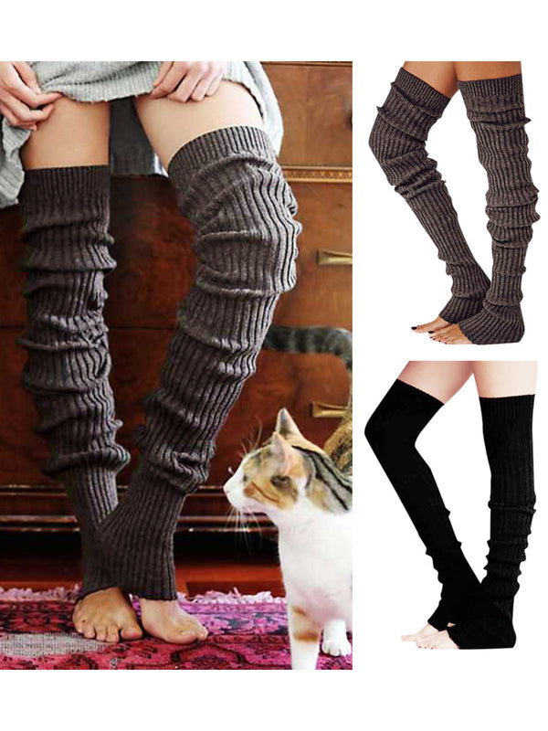 Extended Warm Cashmere Over-Knee Socks and Leggings